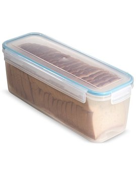 Komax Biokips Sandwich Bread Box With Tray 118.3 Oz.   Airtight, Leakproof With Locking Lid   Bpa Free Plastic Food Storage Container  Freezer And Dishwasher Safe Great For Buns And Kaiser Rolls by Komax