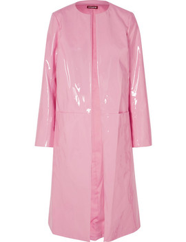 Liam Faux Patent Leather Coat by Staud