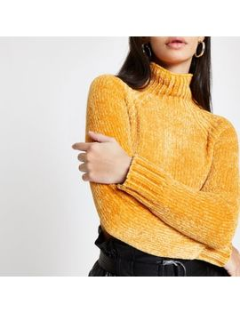 Yellow Knit Chenille Jumper by River Island