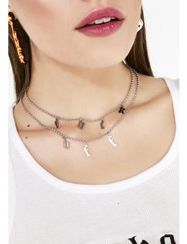 Tell 'em Off Charm Necklace by Ana Accessories