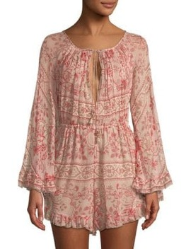 Castile Flared Playsuit by Zimmermann