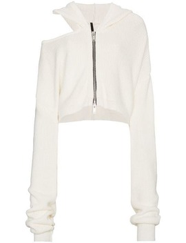 Cut Out Detail Zip Hoodie by Unravel Project