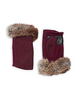 Ribbed Wool Blend Pop Top Gloves by Portolano