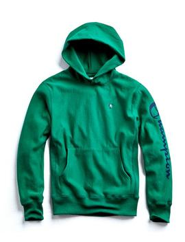 Champion Graphic Hoodie In Turf Green by Todd Snyder + Champion