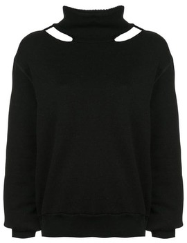 Cut Out Turtleneck Sweater by Unravel Project