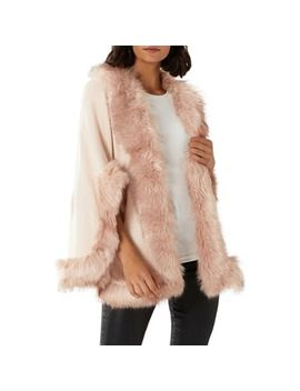 Coast   Blush Pink 'amber' Faux Fur Cape by Coast