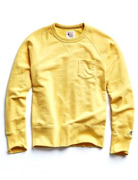 Classic Pocket Sweatshirt In Yellow by Todd Snyder + Champion