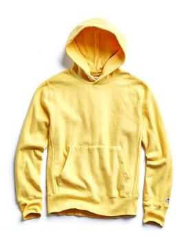 Popover Hoodie Sweatshirt In Yellow by Todd Snyder + Champion