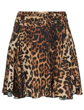 High Waisted Leopard Print Mini Skirt by We11done