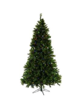 7.5 Ft. Pre Lit Led Canyon Pine Artificial Christmas Tree With 550 Multi Color String Lights by Fraser Hill Farm