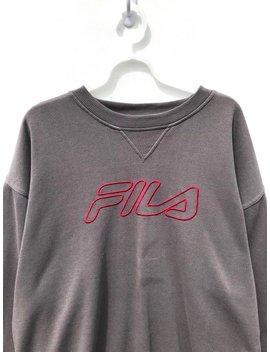 Fila Big Logo Embroidered Sweatshirt (Large)/ Vintage Sweatshirt / Aesthetic Clothing / Comfy by Etsy