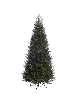 7.5 Ft. Pre Lit Incandescent Douglas Fir Premier Slim Artificial Christmas Tree With 500 Ul Clear Lights by Home Depot