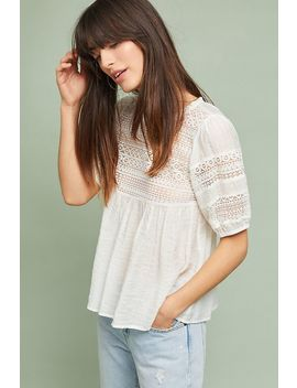 Adley Lace Top by Anthropologie