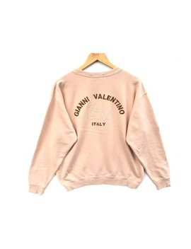 Gianni Valentino Big Logo Spell Out Vintage Sweatshirt, Vintage Clothing, Crewneck Sweatshirt by Etsy