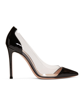 Black Patent Plexi Heels by Gianvito Rossi