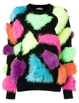 Fuzzy Panelled Sweater by Jeremy Scott