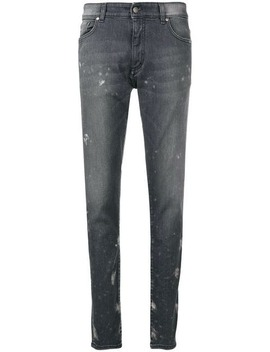Mid Rise Paint Splatter Jeans by Represent