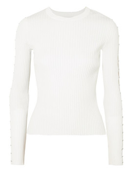 Cutout Ribbed Knit Sweater by Jonathan Simkhai