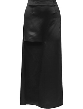 Cutout Silk Satin Maxi Skirt by Jw Anderson