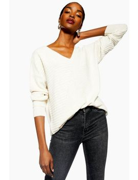 Directional Ribbed Longline Jumper by Topshop