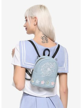 Sailor Moon In The Name Of The Moon Denim Mini Backpack Hot Topic Exclusive by Hot Topic