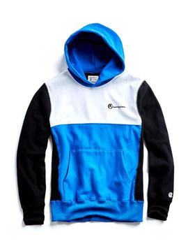 Champion Color Block Hoodie In Blue by Todd Snyder + Champion