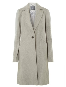 **Tall Grey Coat by Dorothy Perkins