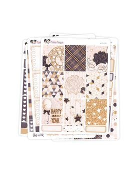 Midnight Kisses New Year Weekly Kit Stickers For Vertical Life Planner Or Mambi Happy Planner // #S73 by Etsy