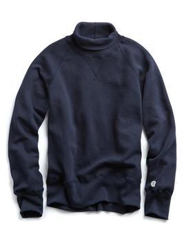 Turtleneck Sweatshirt In Navy by Todd Snyder + Champion