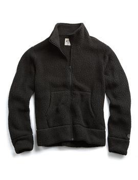 Polartec Fullzip Jacket In Black by Todd Snyder + Champion