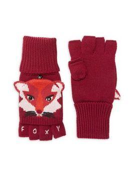 Fox Wool Pop Top Gloves by Kate Spade New York