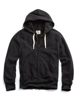 Champion Full Zip Hoodie In Black by Todd Snyder + Champion