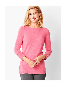 Cashmere Bateau Neck Sweater by Talbots