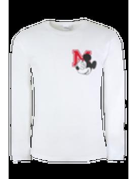 Disney Mickey Long Sleeve Emblem Crew Neck T Shirt by Boohoo Man