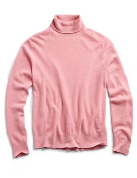 Cashmere Turtleneck In Pink by Todd Snyder