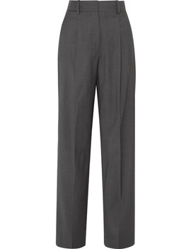 Wool Twill Wide Leg Pants by Theory