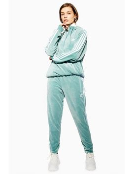 Velour Trackpant By Adidas by Topshop