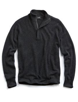 Cashmere Half Zip In Grey by Todd Snyder