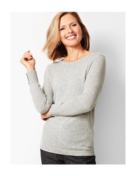 Cashmere Crewneck Sweater   Solid by Talbots