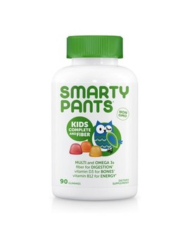 Smarty Pants Kids Fiber Complete Multivitamin Gummies   Lemon, Orange & Strawberry Banana   90ct by Smarty Pants