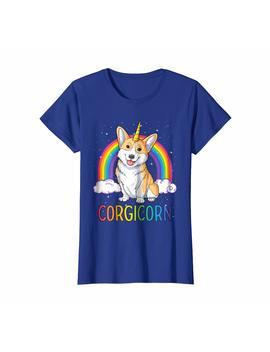 Corgi Shirt Women Kids Men Corgicorn Unicorn Girls Gifts Tee by Lique Corgi