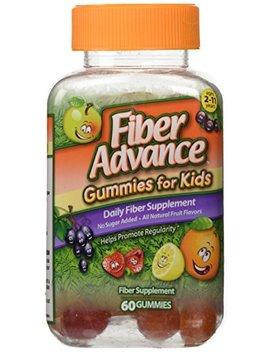 Fiber Advance Gummies For Kids Daily Fiber Supplement, 60 Count by Fiber Advance