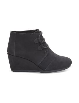 Forged Iron Grey Suede Women's Kala Booties by Toms