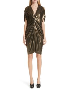 Gathered Metallic Dress by Zero + Maria Cornejo