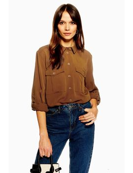 Utility Double Pocket Shirt by Topshop