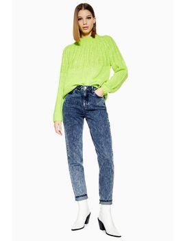 Indigo Acid Wash Mom Jeans by Topshop