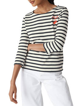 Whistles Mon Cherie Striped Top, Multi by Whistles