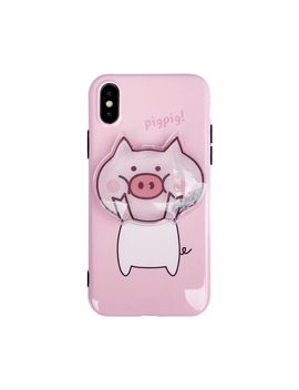 Cute Cartoon Pig Quicksand Squishy Phone Cases For Iphone X Xr Xs Xs Max Dynamic Liquid Glitter Case For Iphone 6 6s 7 8 Plus by Hanman