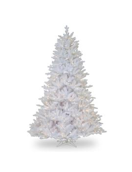7 1/2 Ft. Feel Real Madison White Fir Hinged Tree With 750 Clear Lights by National Tree Company