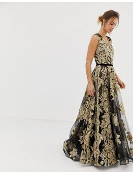 Bronx And Banco Golden Rose Gown by Bronx And Banco